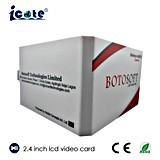 Alta calidad folleto video del LCD de 2.4 pulgadas con el USB