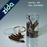 O frasco transparente do animal de estimação para o frasco plástico apertado do ar seco da bebida do alimento com PNF aberto fácil do animal de estimação da tampa pode