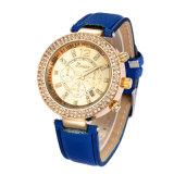 De Horloges van Genève, het Polshorloge van Relojes Mujer, het Horloge van de Kleding van Vrouwen, het Kleurrijke Horloge van de Riem (gelijkstroom-374)