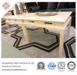 Самомоднейшая мебель гостиницы с журнальным столом краски лоббиа белым (YB-F-997-1)
