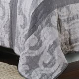 Copriletto della zona del cotone nel Grey (DO6084)