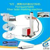 Vuelo marcadora láser 20W con fibra de la línea de montaje