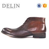 Роскошные популярные мужчин кожаные сапоги повседневная обувь