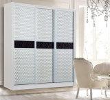 Guardarropa de madera de la ropa del dormitorio de alta calidad con 3-4 altas puertas blancas del lustre