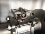 Manual de Aço Inoxidável fundido plataforma elevada 3PC do flange da Válvula de Esfera