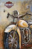 Harley 기관자전차를 위한 3개의 D 금속 벽 예술 장식