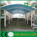 Carports grande de metal con techo de policarbonato (260 CPT)