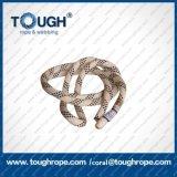 Ligne de haute résistance de faisceau de fibre d'UHMWPE ligne de yacht avec la gaine