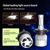 Voiture 9007 C6 Projecteur à LED haute des feux de croisement COB Kit H4 9005 360 Projecteur à LED de lumière