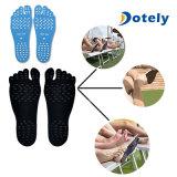 Pés invisíveis flexíveis da vara macia da proteção na almofada adesiva do pé da praia das solas
