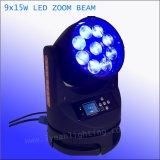 Indicatore luminoso capo mobile del fascio dello zoom 9PCS 15W RGBW della lavata del LED