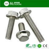 Boulon Hex de bride de l'acier inoxydable A2-70 (DIN6921)