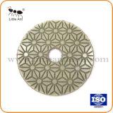 3개 단계 다이아몬드 닦는 패드 꽃 디자인 화강암 대리석 지면 등등을%s 젖은 사용된 다이아몬드 공구