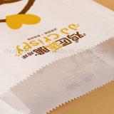 Bolsas de papel recicladas blancas personalizadas de Brown de la impresión para el pollo frito