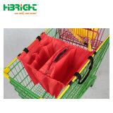 Compras em papel kraft Saco portátil com pega para Supermercado