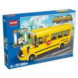 Hsanhe badine les blocs de verrouillage amicaux créateurs de jouet de bus d'Eco de construction