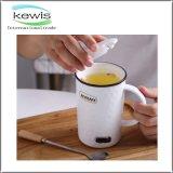 taza de café promocional del regalo de los 7.5*13cm con la cuchara de los 6cm