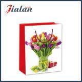 Оптовая торговля свежими цветами изображения 4c напечатано магазины подарков бумажных мешков для пыли