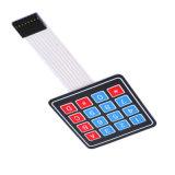 Caliente la venta el 16 de la tecla 4 X 4 Interruptor de membrana teclado 4X4 4*4 Matriz de elementos de matriz de teclado para Arduino DIY Smart Car