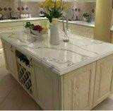 Искусственний мраморный кристаллический сляб камня кварца для стол стола Coustomed кухонного
