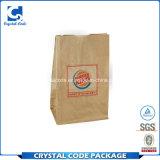 Logo personnalisé PE Handy Burger sac de papier couché