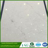 Lastra bianca di cristallo della pietra del quarzo con le vene grige