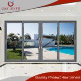 Раздвижная дверь стекла двойника рамки энергосберегающего Втройне-Следа алюминиевая