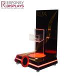 카운터에 의하여 조명되는 LED 아크릴 모발 관리 제품 진열대 홀더