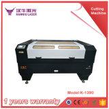 Acero inoxidable, carta de acrílico, madera, corte del laser del paño y precio de la máquina de grabado