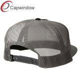 Поощрение 5 панели Trucker Red Hat сетки с вышивкой с плоским экраном