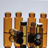 10ml botella de aceite esencial de vidrio ámbar para Cosmética
