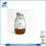 Escritura de la etiqueta de papel adhesiva brillante durable de la etiqueta engomada de la botella de la miel