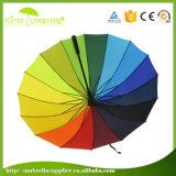 27inch*8K昇進のギフトのための反紫外線まっすぐなガラス繊維の傘