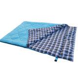 Sac de couchage Double Camping maman et papa Sac de couchage Camping Flanelle de chemise de randonnée avec sac de transport