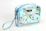 セットされた方法ブランドPVC装飾的な袋の防水ポータブル2部分は構成する袋(BDY-170940)を