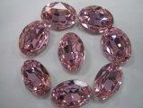 Pierre noire de verre cristal dans ovale (3002)