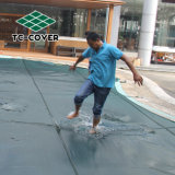 Malla de alta calidad de la piscina de invierno cubiertas para piscina sobre el suelo