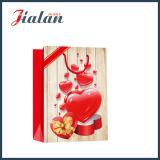 Bolsa de papel de tarjeta del día de San Valentín que hace compras impresa 4c del día del embalaje al por mayor del regalo