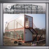 2개의 지면 임시 사무실을%s 빠른 임명 강철 구조물 빛 강철 모듈 집