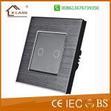Стены металла верхнего качества почищенный щеткой переключатель алюминиевой светлый, Ce RoHS