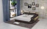 記憶を用いる米国式の現代的な革ベッド