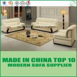 Mobilia di cuoio domestica di legno del sofà