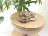 보석 반지 제조자 분홍색 & 백색 지르코니아 반지