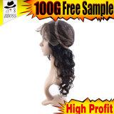 scoppi lunghi dei capelli della parrucca anteriore di seta del merletto 180%Brazilian