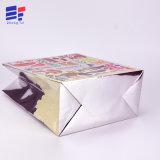 Kundenspezifische silberne untere Karten-Einkaufstasche für das Enthalten des Kleides