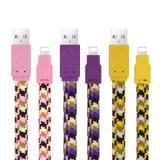 Venta caliente USB cable de datos de fideos de colores