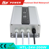 24V 8A 200W Waterproof a fonte de alimentação IP65 do diodo emissor de luz do interruptor IP67