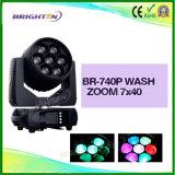 Lumières principales mobiles de lavage de l'étape 7PCS*40W 4 in-1 DEL RGBW