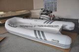 Barco de la parte inferior de la fibra de vidrio 40HP de Liya los 3m-4m para el precio del barco de la costilla de la venta