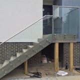Inferriata di vetro della scala esterna, corrimano di vetro, prezzi di vetro dell'inferriata della scala
